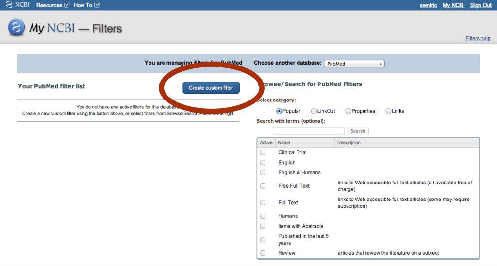 5-My NCBI Filters